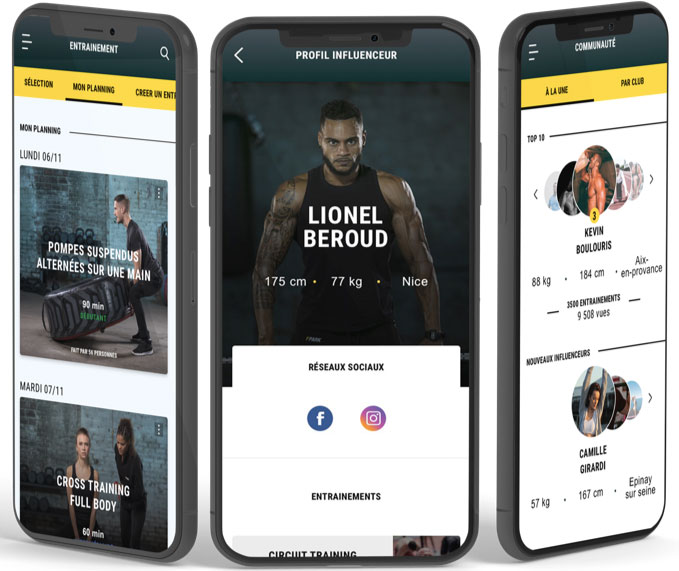 mockup iphone fitness park application