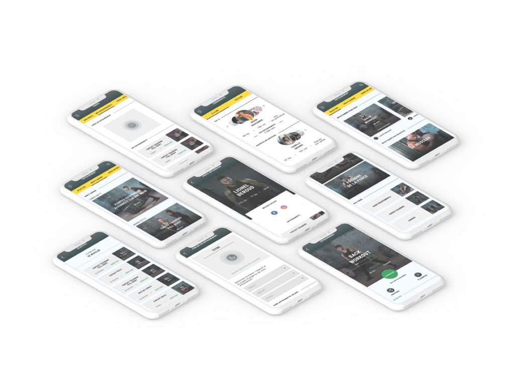 mockup iphones fitness park application
